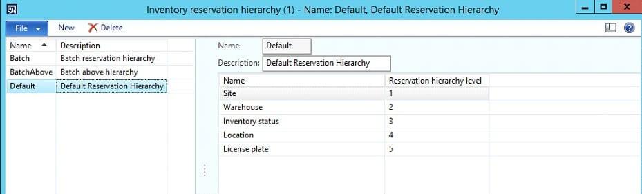 Dynamics 365 inventory reservation screenshot