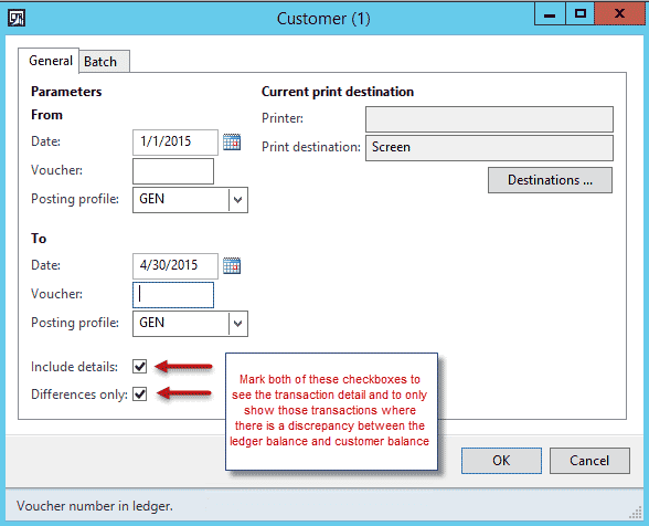 Figure 4- General ledger reports reconciliation customer