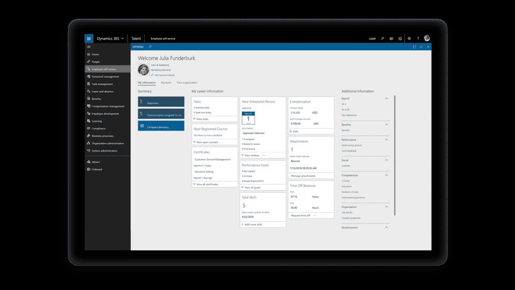 Microsoft Dynamics 365 for Talent Self service