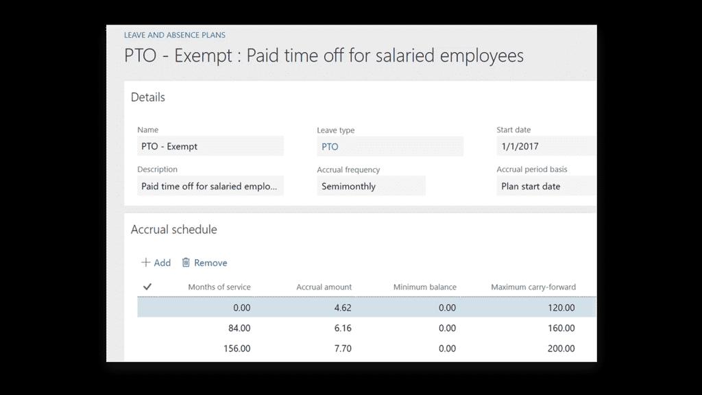 Microsoft Dynamics 365 for Talent PTO