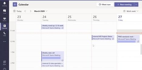 Screenshot of calendar fun