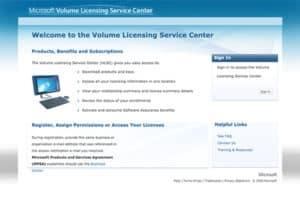 Microsoft Licensing Service Portal