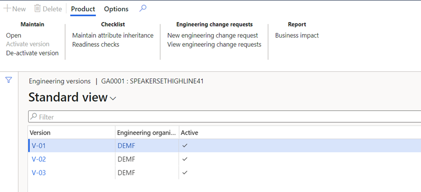 Engineering Change Management Standard View