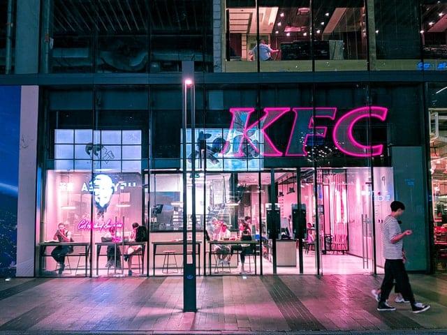 KFC Franchise at night